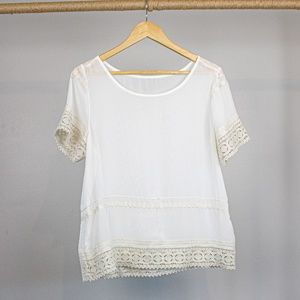 August Silk Embroidered Sheer Shirt